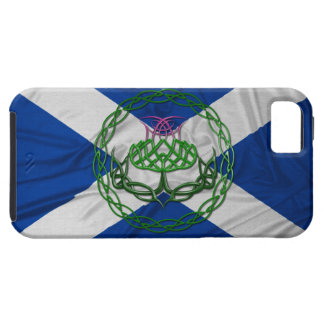 Celtic Knot Thistle And Flag iPhone 5 Covers