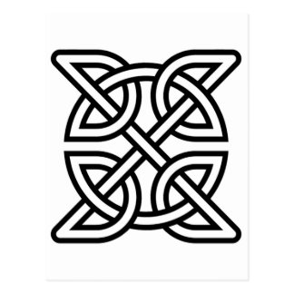 Celtic Knot Tribal Tattoo Postcard