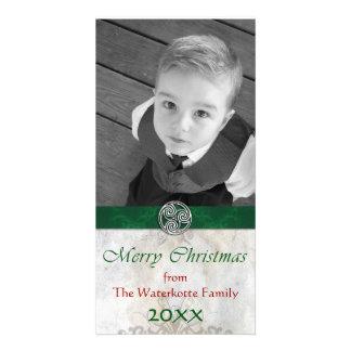 Celtic Knot Triskelion Holiday Christmas Photo Personalized Photo Card