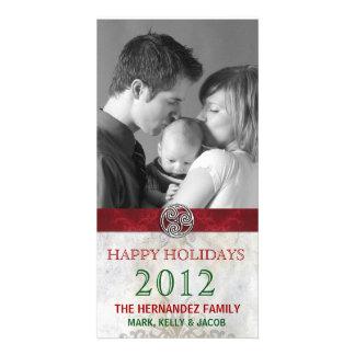Celtic Knot Triskelion Holiday Christmas Photo Photo Cards