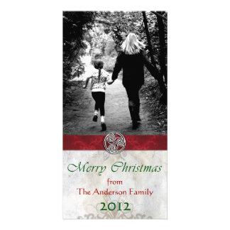 Celtic Knot Triskelion HolidayChristmas Photo Personalized Photo Card