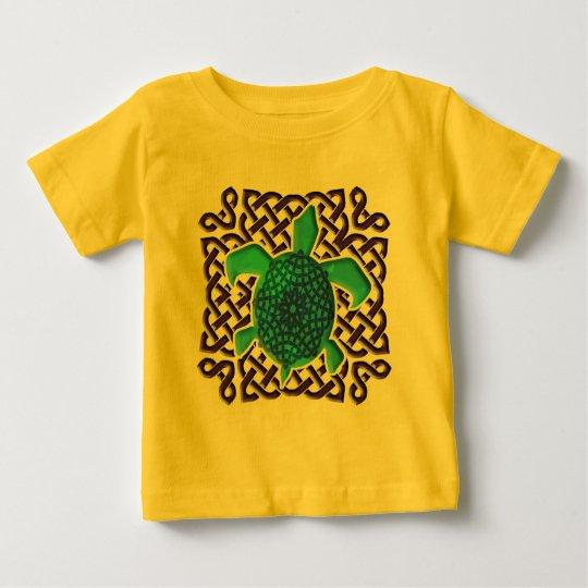 Celtic Knot Turtle (Blue) Infant T-Shirts