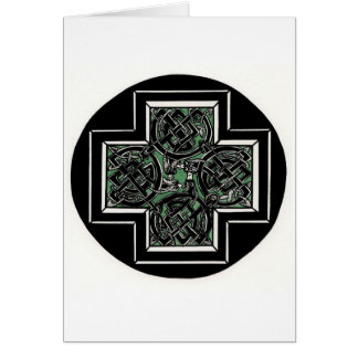 Celtic Knot with Dragons Greeting Card