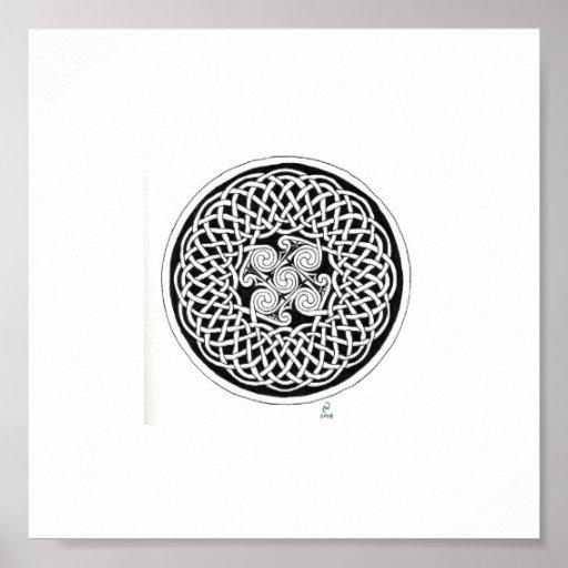Celtic knot wreath print