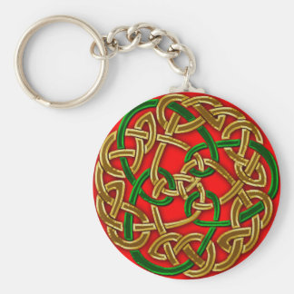 CELTIC KNOTS Collection Basic Round Button Key Ring