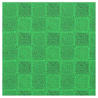 Celtic Knots  Dark Green FIne Fabric