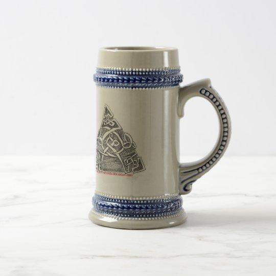 Celtic knots goblet beer stein
