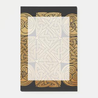 Celtic Knotwork Cross Post-it Notes