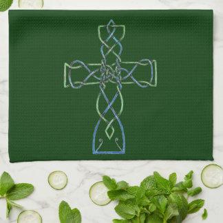 Celtic Knotwork Cross, Towel, Kitchen Towel
