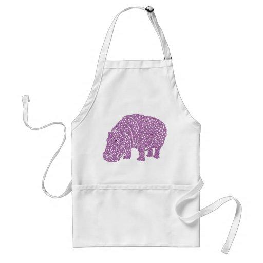 Celtic Knotwork hippo apron.