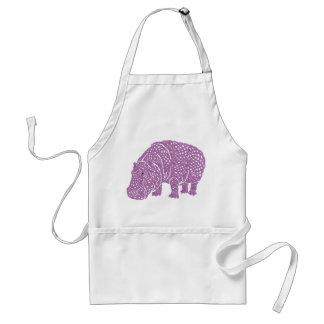 Celtic Knotwork hippo apron. Standard Apron
