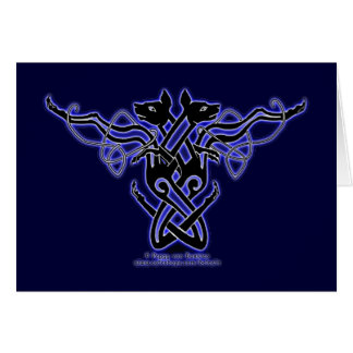 Celtic Knotwork Hounds Card