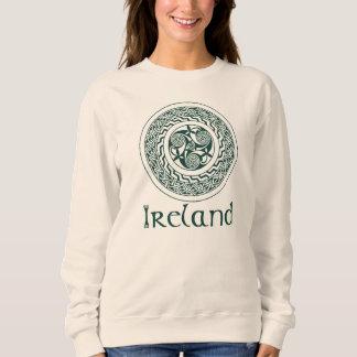Celtic Knotwork Irish Medallion Pattern in Green Sweatshirt