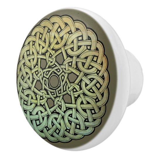 Celtic Knotwork Mandala Ceramic Knob