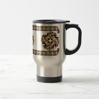 Celtic Knotwork Mugs, Cat Design #2 Stainless Steel Travel Mug