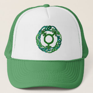 Celtic Knotwork Transgender Symbol Trucker Hat