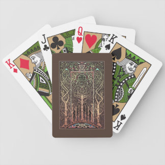 Celtic Knotwork Trees Design Playing Cards