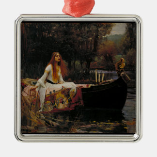 Celtic Lake Ghost Story of Girl Lady of Shalott Christmas Ornament