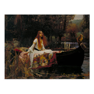 Celtic Lake Ghost Story of Girl Lady of Shalott Postcard