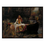 Celtic Lake Ghost Story of Girl Lady of Shalott Poster
