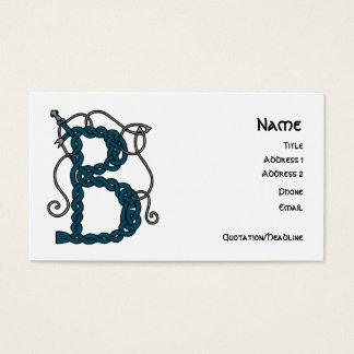 Celtic Letter B business cards