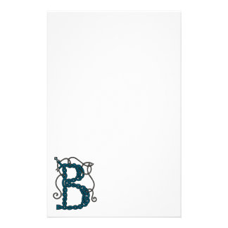 Celtic Letter B stationery