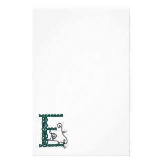 Celtic Letter E stationery