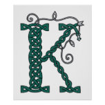 Celtic Letter K print