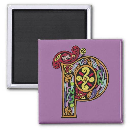 Celtic Letter 'P' - Magnet