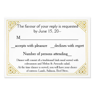 Celtic Love Knot Wedding RSVP Reply Cards Notes