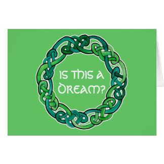 Celtic Lucid Dreaming Reality Check Greeting Card