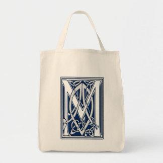 Celtic M Monogram Grocery Tote Bag