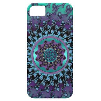 Celtic Mandala on Colorful Fractal Case for iPhone