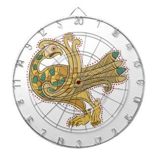 Celtic Medieval Golden Peacock, Dart Board