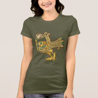 Celtic Medieval Golden Peacock, Short Sl. T-Shirt