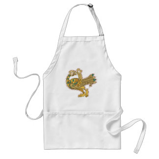 Celtic Medieval Golden Peacock, Standard Apron