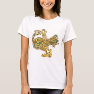Celtic Medieval Golden Peacock, Women's T-Shirt