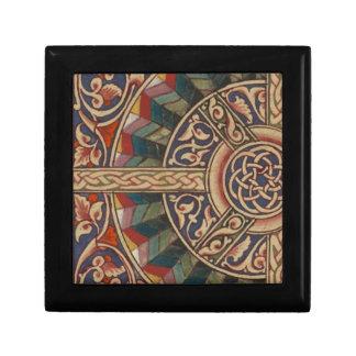 Celtic Medieval Half Circle Design Small Square Gift Box