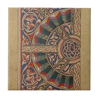 Celtic Medieval Half Circle Design Tile