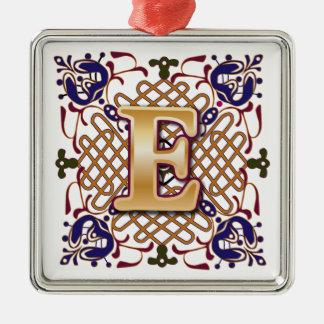 Celtic Monogram Letter E Christmas Ornament