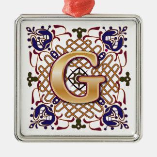 Celtic Monogram Letter G Christmas Ornament