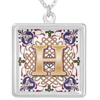 Celtic Monogram Letter H Jewelry