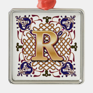 Celtic Monogram Letter R Christmas Ornament
