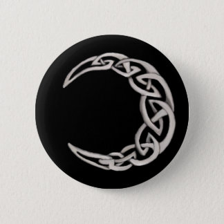 Celtic moon 6 cm round badge