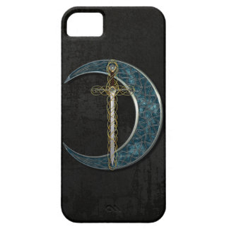 Celtic Moon And Sword iPhone 5 Cases