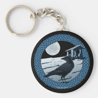 Celtic Moon, Raven and Dolman Keychains