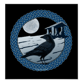Celtic Moon, Raven & Dolman Prints & Posters