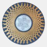 Celtic Moon Round Sticker