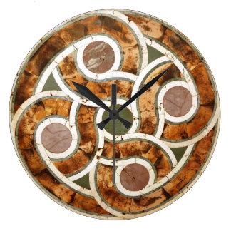 Celtic Mosaic on Acrylic Clock