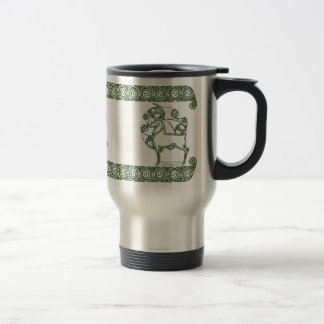 Celtic Mug, Herne Deer Design #2 Stainless Steel Travel Mug